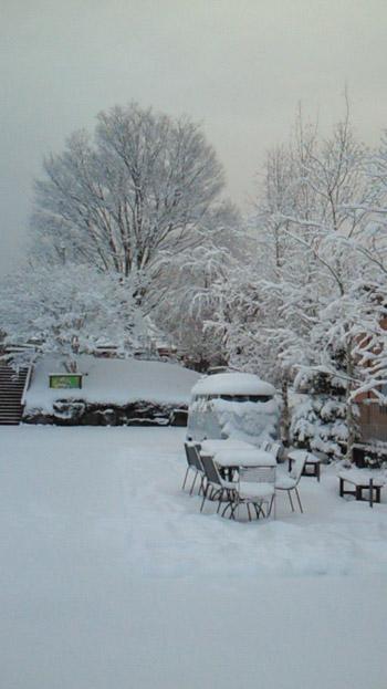 とんとん広場雪景色