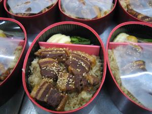 福豚の煮豚弁当