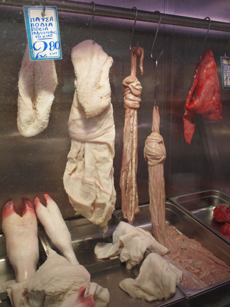 アテネの肉市場