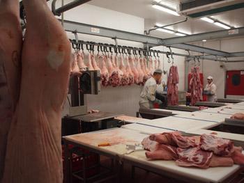 スロヴァキアの食肉工場